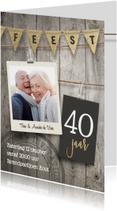 40 jaar getrouwd jubileum uitnodiging