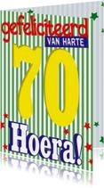 70 jaar van harte hoera -BF
