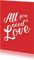 All you need is love - DH