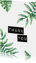 Bedankkaartjes - Ansichtkaart 'Thank you'