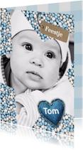 Babyfeestje Ster muisjes blauw