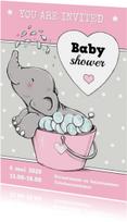 Babyshower olifantje bad IH