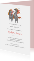 Babyshower uitnodiging unicorn
