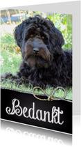 Bedankkaartjes - Bedankkaart hond Joey