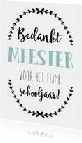 Bedankkaart Meester 1 - WW