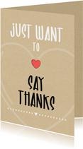 Bedankkaartjes - Bedankt Just want to say thanks