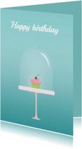 Verjaardagskaarten - Birthday cupcake