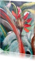 Kunstkaarten - Bloem rood bruin
