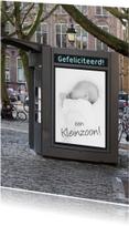 bord foto geboorte jongen