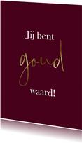 Zomaar kaarten - Bordeauxrode kaart