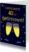 Champagne Proost XX jaar getrouwd