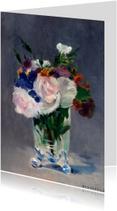 Claude Monet. Bloemen in een kristallen vaas