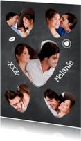 Collage Krijtbord hartjes - BK