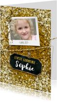 Communie vormsel goud glitter lentefeest eigen foto