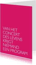 Spreukenkaarten - Concert des levens
