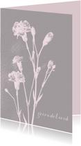 Condoleancekaarten - Condoleancekaart dianthus