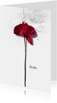 Condoleancekaarten - Condoleancekaart Klaproos Sterkte