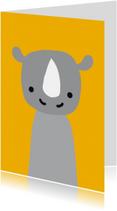 Dierenkaart Neushoorn