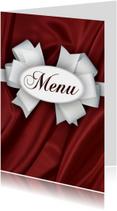 Diner menukaart rood