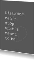 Spreukenkaarten - Distance