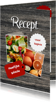 Eigen recepten kaart - DH