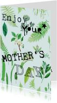 Moederdag kaarten - Enjoy your mother's day