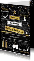 Kerstkaarten - Feestelijke kerstkaart wegwijzer typografisch
