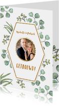 Feliciatie huwelijk euqalyptusblad