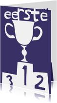 Felicitatiekaarten - Felicitatie met beker voor de eerste plaats