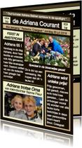 Verjaardagskaarten - Felicitatie persoonlijke krant