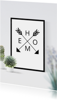 Felicitatie planten happy new home poster