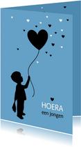 Felicitatie - Silhouet jongen met ballon