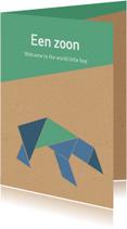 Felicitatiekaarten - Felicitatie - Tangram beer voor een jongen