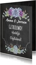 Felicitatiekaarten - Felicitatie trouwen vetplant