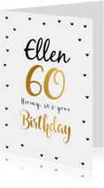 Felicitatie Verjaardagskaart 60 goud