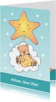 Felicitatiekaarten - Felicitatie zoon beer in wolk IH
