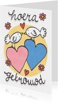 Felicitatiekaarten - felicitatiekaart getrouwd duiven