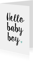 Felicitatiekaarten - Felicitatiekaart Hello Baby Boy