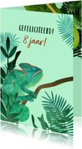Felicitatiekaart Kameleon
