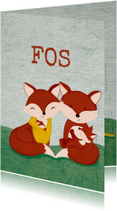 Geboortekaartjes - Geboortekaart familie vos