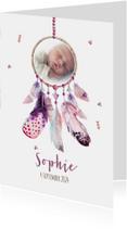 Geboortekaart meisje dromenvanger