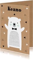 Geboortekaartje ijsbeer kraft jongen