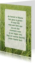 Gedichtenkaart Gras liefde