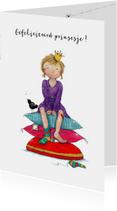Verjaardagskaarten - Gefeliciteerd prinsesje