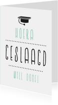 Geslaagd letters Zeefdruk Zweeds