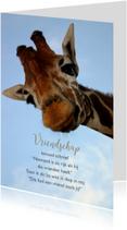 Giraf met gedicht-isf