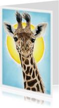 Giraffe in zonlicht