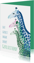 Verjaardagskaarten - Giraffes verjaardagskaart
