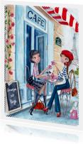 Groetjes uit Parijs Illustratie meisje