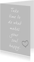 Spreukenkaarten - Happy soul